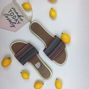 American Eagle Sandals Flat Slip-on Striped Size 7